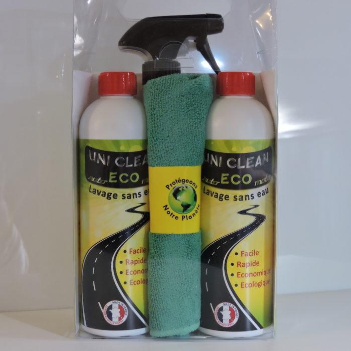 Car de Jouvence - Uni Clean Eco - Pack bouteilles + vaporisateur + fibre textile